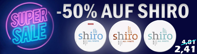 Super Sale auf Shiro bei snus24